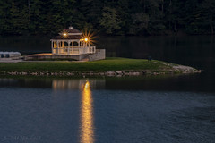 Ridenour at Dusk (jmhutnik) Tags: gazebo reflection nitro westvirginia ridenourlake seats