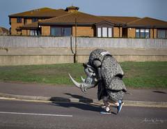 365-2018-280 - Marathon runner (adriandwalmsley) Tags: bournemouthmarathon rhinoceros
