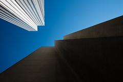 Jeux interdits (fidgi) Tags: paris architecture abstract abstrait minimalism minimalisme geometric building ombre shadow light lumière lines lignes ciel sky canon canoneos5dmk3 tamron bleu blue white blanc brown marron
