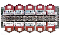 Swedish reflection (leo.roos) Tags: reflection weerspiegeling red rood cabin firstcampsolvik campsite camping smögen sweden zweden swedenspring2018 a7rii darosa leoroos sel1670z variotessar16704za variotessarte41670 sonycarlzeiss1670mmf4zaossvariotessar sonycz16704 apsc