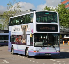 First Glasgow LN51 NRJ (33093) | Route X11 | Buchanan Bus Station, Glasgow (Strathclyder) Tags: first glasgow firstglasgow dennis trident plaxton president ln51 nrj ln51nrj 33093 buchanan bus station scotland olympialivery blantyre firstlondon firstcentrewest tnl1093 tnl33093 firstscotlandeast firsteastlothian
