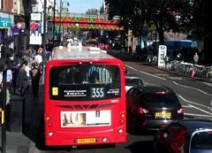 London General WS92 on route 355 Brixton 13/10/18. (Ledlon89) Tags: bus buses london transport goahead goaheadlondon general londongeneral londonbus londonbuses tfl transportforlondon brixton wrightbus