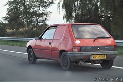 1991 Peugeot 205 Commercial 1.8 XAD (NielsdeWit) Tags: nielsdewit car vehicle vk36hf peugeot 205 commercial commerciale 18 xad diesel red van grijskenteken a12 highway snelweg driving