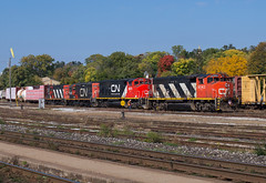 A GP40-2W Kind of Morning (Joseph Bishop) Tags: cn 9543 emg emd gp402w trains train track tracks railfan railroad railway rail rails cndundassubdivision brantford