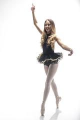 dancer 04 (Mark Rigler -) Tags: pretty cute sweet young fun girl woman dancer ballet ballerina studio white background black tutu sensuality ethereal femininity girlishness womanliness