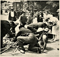 1935 TDF Hallucinatory Crash (Sallanches 1964) Tags: tourdefrance 1935 crash roadcycling heroictimes lagrandeboucle othertimescycling tourdefrancewinners