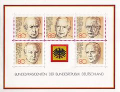 Deutsche Briefmarken (micky the pixel) Tags: briefmarke stamp ephemera deutschland bundespost block bundespräsident theodorheuss heinrichlübke gustavheinemann walterscheel karlcarstens