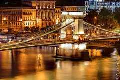 Chain bridge lights (Peter Szasz) Tags: budapest magyarország hungary colourful calm smooth city light lights lamps urban architecture buildings river water danube duna széchenyi lánchíd chainbridge chain bridge cityscape longexposure night evening peaceful arch pillars
