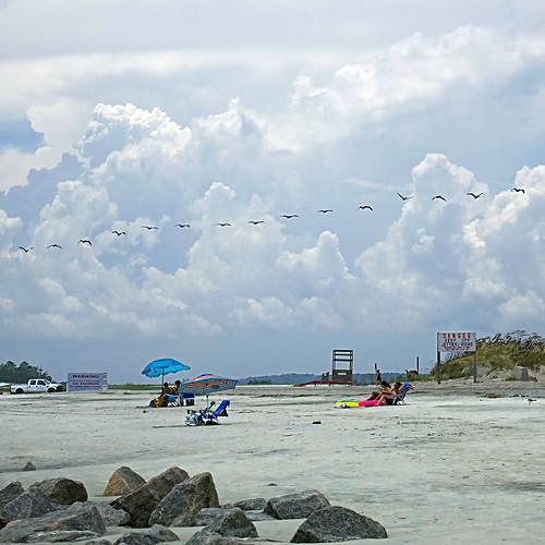 Tybee Island Beach, Georgia, USA