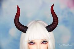 DArk red gradated Maleficent horns MSD (AnnaZu) Tags: dark red horns maleficent doll bjd abjd fairyland fairyline sircca minifee magnetic polyner clay polymer vesnushkahandmade annazu annaku