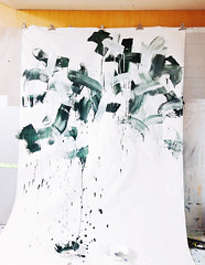 Work in progress (mayakonakamura) Tags: gallerymirume soloshow mayako nakamura mayakonakamura layersandlayers layers contemporaryart tokyo chofu workinprogress studio atelier workspace hachioji acrylic canvas cheesecloth tracingpapaer automatic drawing positivenegative abstract expressionism