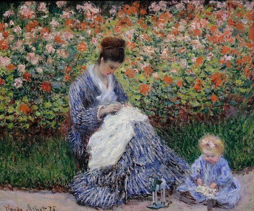 Claude Monet, Camille Monet and a Child in the Artist's Garden in Argenteuil, 1875 5/12/18 #mfaboston