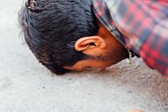 Man Prostrating in Street, Uttar Pradesh India (AdamCohn) Tags: adam cohn uttar pradesh india mathura vrindavan holi pilgrim pilgrimage pilgrimmage pilgrims prostrate prostrating prostration wwwadamcohncom adamcohn uttarpradesh isapurbanger
