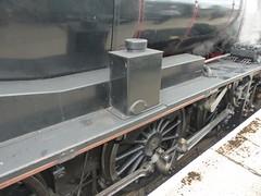 P1090165 - 2018-07-29 - Day 2 - Strathspey Steam Railway - 46464 (GeordieMac Pics) Tags: ©2018georgemcvitieallrightsreserved scotland railway strathspey steam linux panasonic fz200 locomotive engine 46464 ivatt class2 dmc drivinggear