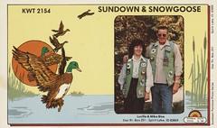 Sundown Rainbow Photo - Sundown & Snow Goose - Spirit Lake, Idaho (73sand88s by Cardboard America) Tags: qsl qslcard cb cbradio vintage sundown pictured artistcard