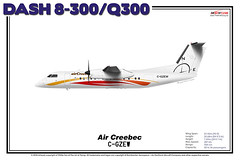 Bombardier Dash 8-300/Q300 - Air Creebec (The Art of Flying) Tags: aircraft airliner airplane bombardier propeller turboprop q300 dash8 dash8300 aviation aviationenthusiast artprint theartofflying planes illustration crq aircreebec