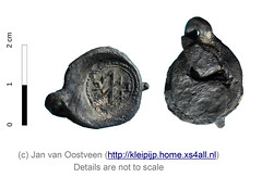 Privy mark with initials IC (janvanoostveen) Tags: clothseal privy ic