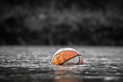 Alone (TheGarb) Tags: basketball water lost alone bw nikon nikonphotography d3300