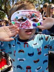 Glue Man! (quinn.anya) Tags: sam kindergartener mask superhero glue glitterglue renfaire renaissancefaire norcalrenfaire northerncaliforniarenaissancefaire