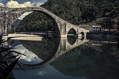 A Deal With Ponte del Diavolo (Life Is Beautiful Photography) Tags: devil bridge brücke most italia italy diavolo reflection ponte maddalena legend myth river construction landscape