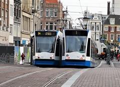 2x1 (Peter ( phonepics only) Eijkman) Tags: amsterdam city combino detour omleiding gvb rail rails tram transport trams tramtracks trolley strassenbahn streetcars nederland netherlands nederlandse noordholland holland