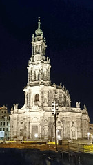 Night view of Dresden's Catholic Cathedral from Augustusbrücke (stephengg) Tags: germany free state saxony dresden night catholic cathedral augustusbrücke