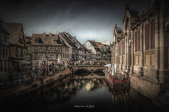 Colmar 2018 (EBoss Fotografie) Tags: colmar alsace hautrhin france dark texture canon canal house city old town street sky clouds art depth painting supershot soe