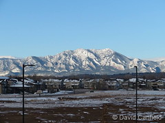 November 13, 2018 - Fresh snow covers the Flatirons. (David Canfield)