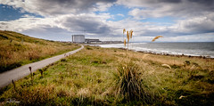 Pathway to the Broch (Tom McPherson) Tags: ngc tommcpherson photographer scottish scotland water clouds sky industry maltings town village wind waves pro seat seascape sea colour landscape moray burghead grass plant broch path