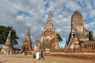 Sunset in Wat Chai Watthanaram...Unesco site Ayutthaya