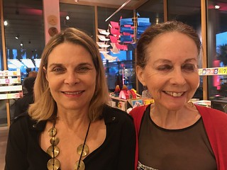 Valerie Ricardi and Elisa Turner at the Christo opening at PAMM