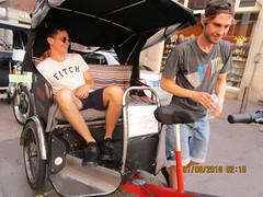 Actors! (RubyGoes) Tags: red black blue biggie shop bike taxi amsterdam netherlands wheels