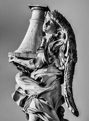 _7107777 (Marco Ambrosini Fotografo) Tags: statue angeli angels roma rome pontesantangelo wings ali uccelli birds piccioni gabbiani seagull pigeons religion religione blackandwhite biancoenero silhouette arte art storia history trip gita città city bridge ponte