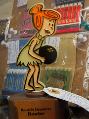 IMG_0112 (kennethkonica) Tags: southportantiqueshop mannequin shopping canonpowershot canon southport indianapolis indiana indy hoosier color random fun retail antiqueshop fakepeople wilmaflintstone trophy bowling cartoon
