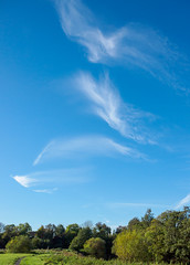 Clouds Dancing (kckelleher11) Tags: 1442mm 2018 ez ireland kildare olympus blue clouds dancing ep3 foliage green october sky trees