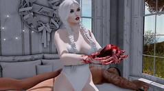 Heart Stealer (KittyBlue Rae) Tags: secondlife sunshine couple macabre gruesome blood heart murder halloween grisley love whimberly