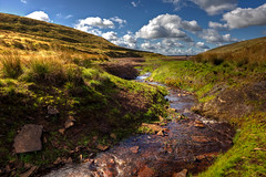 The Hills of Denshaw (Missy Jussy) Tags: saddleworth rochdale landscape lancashire land moorland water stream grass fields bluesky clouds reservoir denshaw 5d canon5dmarkll canon5d canoneos5dmarkii canon outdoor outside countryside rural sunlight ef24mmf28 24mm