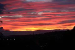 Sunday evening sunset (charliejb) Tags: sunset sun clouds westburyontrym bristol 2018 silhouette church skyline