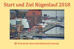 Webcam Rügenbrückenlauf 2018 (Carl-Ernst Stahnke) Tags: webcam fotomontage ozeaneum startziel rügenbrückenlauf 2018 zelte versorgung betreuung stralsund hansestadt hafen hafenspeicher lotzenturm betreuer