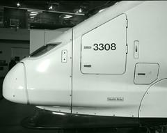 Eurostar Nose bw greentint (Ravensthorpe) Tags: york rail nrm trains electric class373 bw