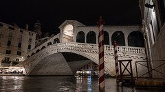 Rialto at Night (Sworldguy) Tags: a73 camera sonya73 pontedirialto venice bridge grandcanal italia water restaurant bricole moorings marble venezia covered nightscene travelphotography lights architecture arch singlespan stone portico historical landmark landscape wideangle