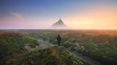 S E R E N I T Y (FredConcha) Tags: montsaintmichel fredconcha france nature landscape sunrise fog bretagne britany alone nikon d800 lee serenity