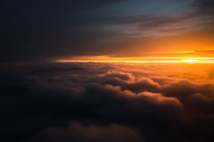 Sunset from another perspective (Pásztor András) Tags: nature sunset sky sun clouds over yellow red orange blue between light fly plane calmness silence beautiful amazing dslr nikon 1870mm d5100 hungary andras pasztor photography 2017
