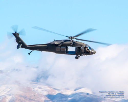 Idaho National Guard Blackhawk Against the Boise Foothills