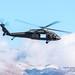 Idaho National Guard Blackhawk Against the Boise Foothills