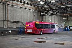 Acocks Green Garage, Birmingham, June 2018 (David Rostance) Tags: nxwm 2209 yx15oyy alexanderdennis enviro200 acocksgreen busgarage birmingham bus