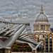 Londres : le Millennium bridge et Saint Paul