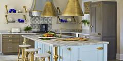 Bashaw Blue And Brass Kitchen (katalaynet) Tags: follow happy me fun photooftheday beautiful love friends