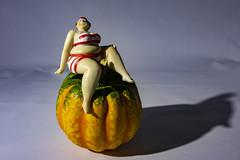 sitting on a pumpkin (Mark Rigler -) Tags: pretty cute sweet young fun girl woman sensuality ethereal femininity girlishness womanliness fat lass sexy female beauty face model scale figure swim suit sun glasses boobs tetas tatas size frauen hände brüste white bikini bathingsuit