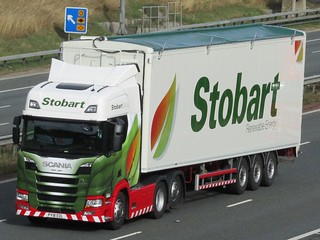Stobart Energy, Next Generation Scania  (Jean Jean) On A1M.
